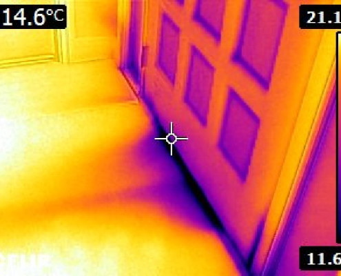 Drafty front door thermal inspection
