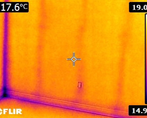 Heatloss through thermal bridging