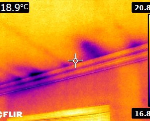 Missing insulation in attic