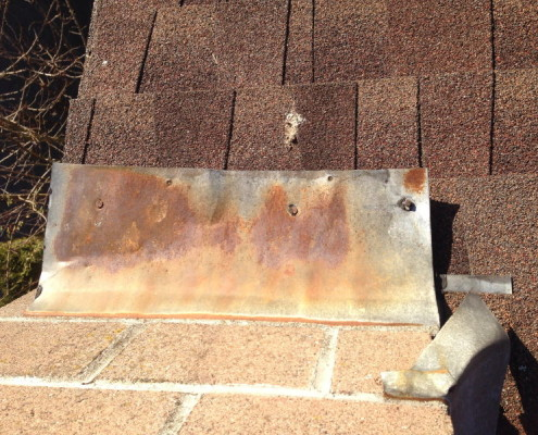 Missing roof sealants