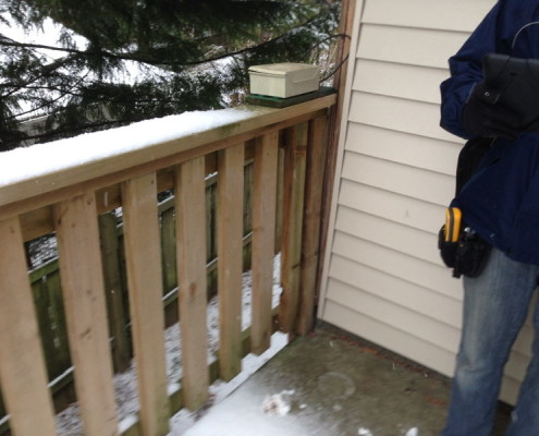 Loose Railings During Deck Inspection