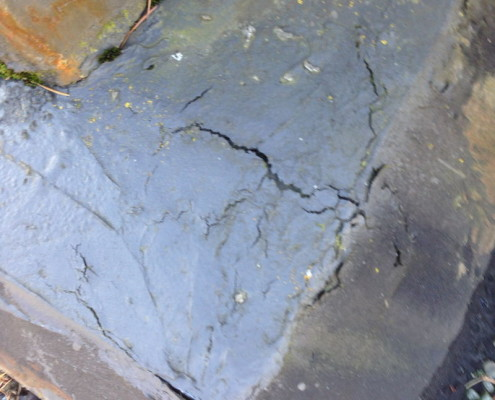 Deteriorated roof sealants