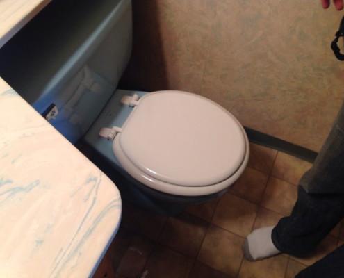Leaking toilets and rotting floor below